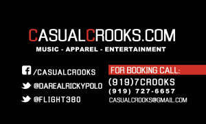 Casual Crooks Business Card back design by With Ease Designz