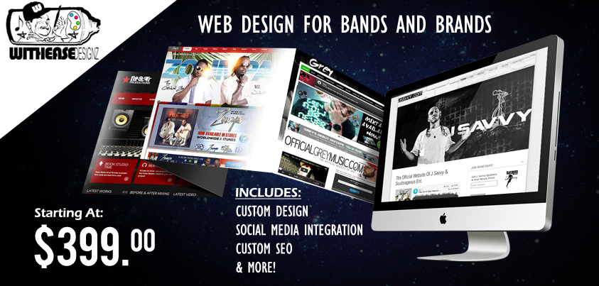 Affordable web design for musicians and businesses