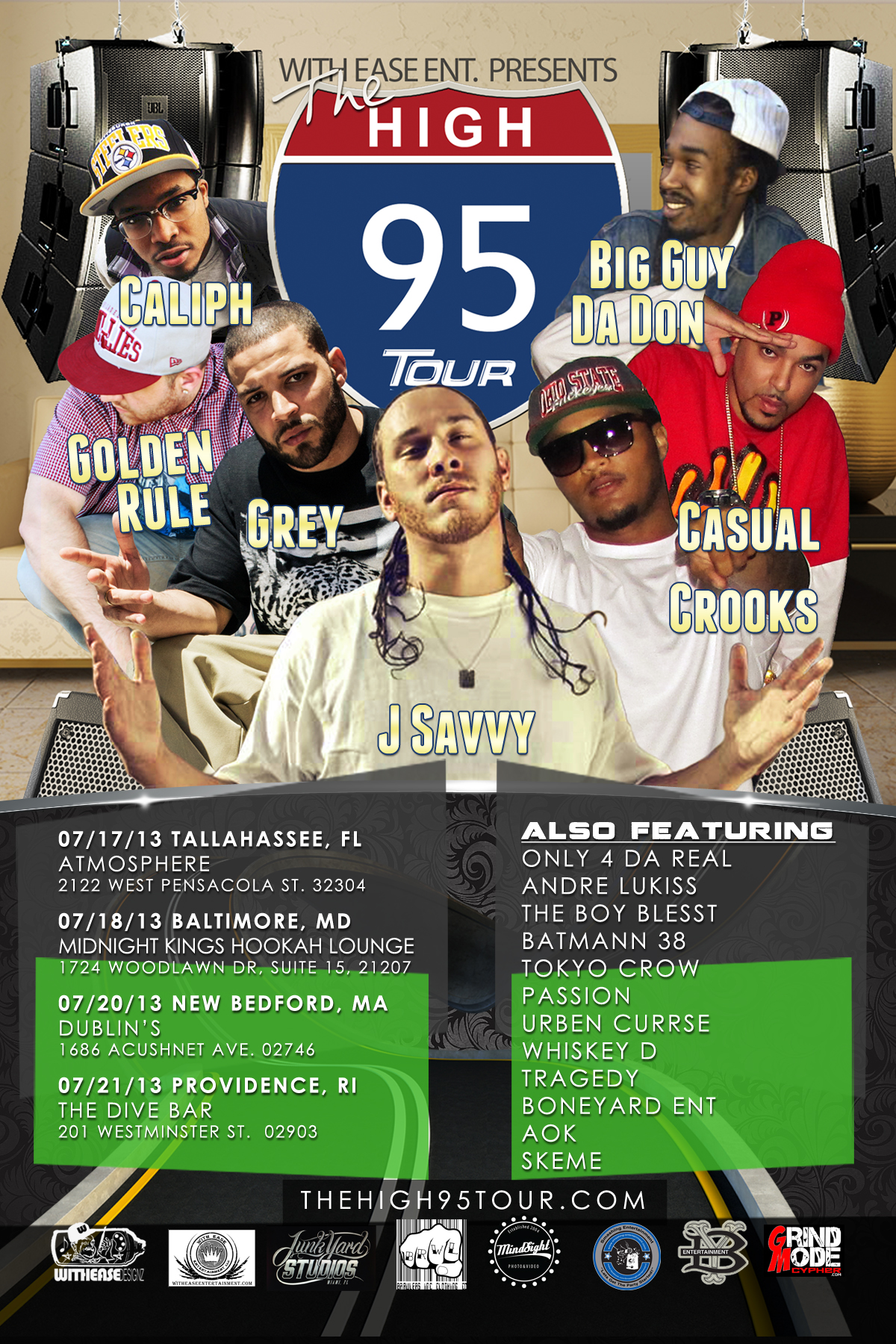 The High-95 Tour flyer by With Ease Designz